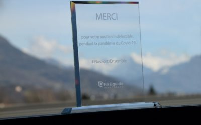 IVALTECH received a trophy from Air Liquide for its support during the COVID-19 crisis